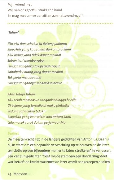 Antonius 3ac. tekst - Antonius Silalahi Poetry