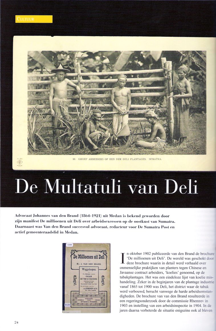 ArtikelvdBrand 1 - De Multatuli van Deli (original article in Dutch)