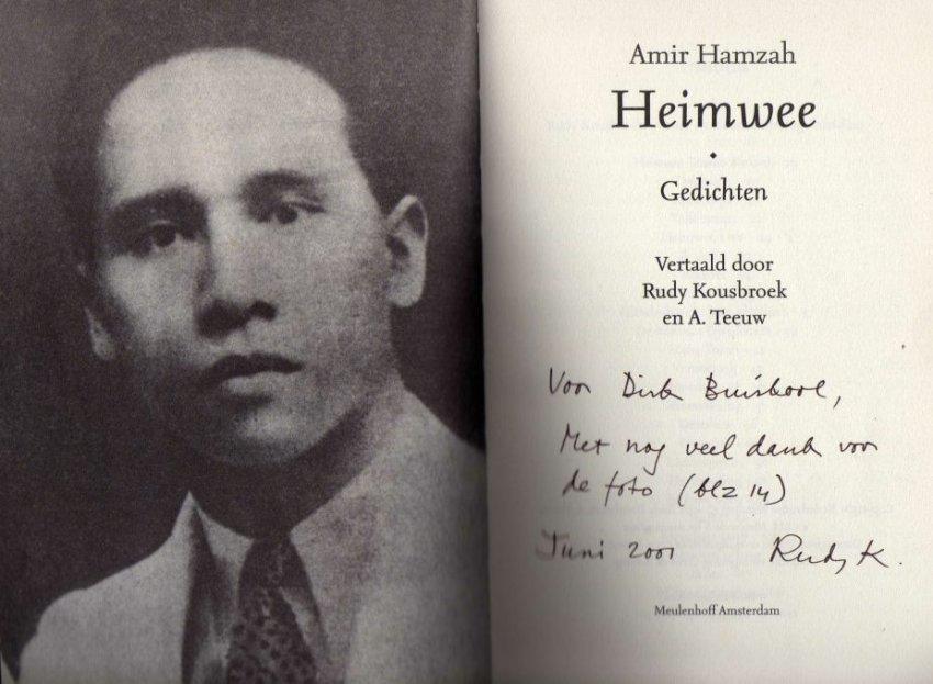 Heimwee2b foto Amir Hamzah1a - Amir Hamzah Poetry