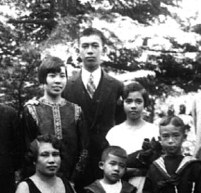 Family Tjong in 1926 in Geneva