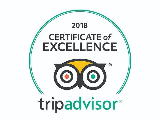 Trijaya Tripadvisor Certificate of excellence